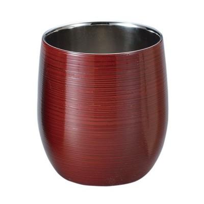 コップ カップ 酒器 酒 焼酎 食器 ギフト 山中塗 日本製   2重ロックカップ(1客)根来塗り SCW-D702