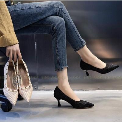 パンプス レディース ローカット 走れる フォーマル 歩きやすい ハイヒール 靴 美脚 痛くない オフィス 2021春 シューズ ぺったんこ 女性用 靴 春夏物 通勤 くつ