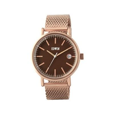 エドウイン 腕時計 EPIC Rose Gold-Tone Stainless Steel 3-Hand Date Watch メンズ EW1G001