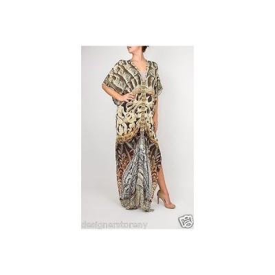ドレス カミリアフランク Camilla 'The Fifth World' Crystal Embellished Print Silk Caftan Dress