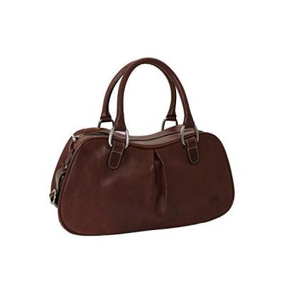 Tony Perotti Italian Vegetale Leather Shoulder Bag - TP8812 Brown 並行輸入品