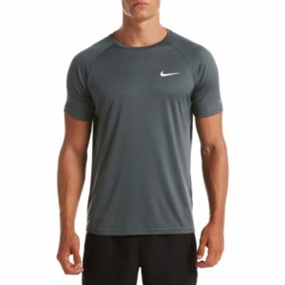 ナイキ Nike メンズ ラッシュガード 水着・ビーチウェア Essential Hydroguard Short Sleeve Rash Guard Iron Grey