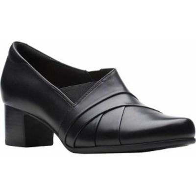 クラークス レディース パンプス シューズ Un Damson Adele Pump Black Leather