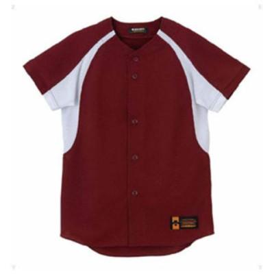 デサント ジュニア 野球・ソフトボール用ユニフォームシャツ(ENG・サイズ:130) DESCENTE ジュニア フルオープンシャツ(コンビネーション) DS-JDB48M-ENG-130 【返品種別A】