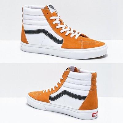 VANS/バンズ スニーカー 大人気 ユニセックス ハイカットスニーカー SK8-HI オレンジ ブラック ホワイト