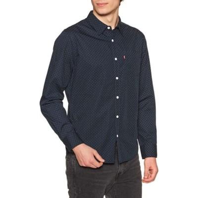 リーバイス Levi's メンズ シャツ トップス classic 1 pocket standard shirt Ditzydot Nightwatch