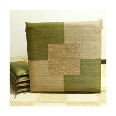 【メーカー直送】純国産 捺染返し い草座布団 草美(くさび) 2枚組 グリーン 約55×55cm×2P