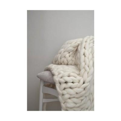 The Classic Knit Blanket 100% Merino wool【並行輸入品】