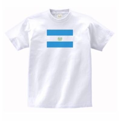 国 国旗 Tシャツ エルサルバドル 白