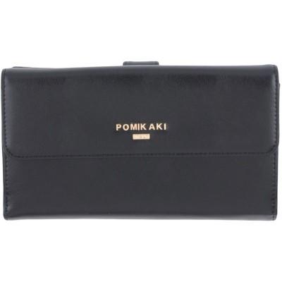 POMIKAKI 財布 ブラック ポリウレタン 100% 財布
