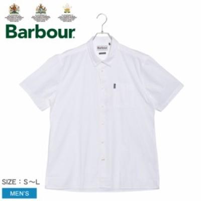 夏新作 バブアー 半袖 シャツ メンズ シアサッカー 9 S/S シャツ ホワイト 白 BARBOUR MSH4673 トップス おしゃれ 人気 シンプル クラシ