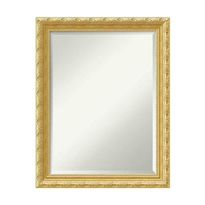 【並行輸入品】Amanti Art Framed Vanity Mirror   Bathroom Mirrors for Wall   Versailles Gold Mirror Frame   Solid Wood Mirror   Medium