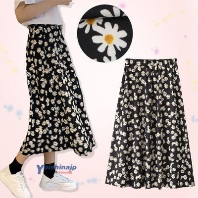 スカート レディース ロングスカート 花柄スカート マキシ丈 マキシスカート かわいい きれいめ