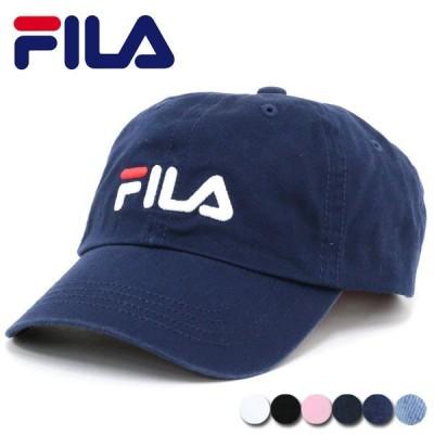 帽子 メンズ キャップ ローキャップ CAP 刺繍 コットン 無地 シンプル カジュアル FILA フィラ