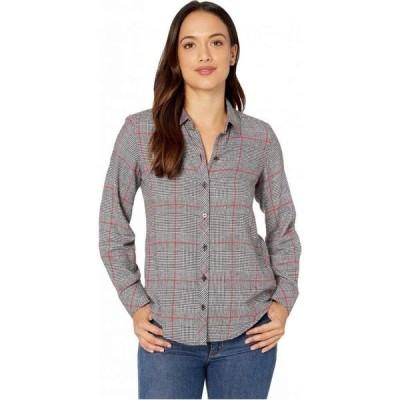 フォックスクロフト Foxcroft レディース ブラウス・シャツ トップス Petite Zoey Brushed Glen Plaid Shirt Multi