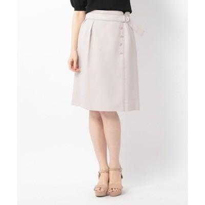 スカート ラップ風配色スカート