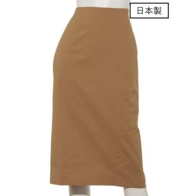 dolly-sean (ドリーシーン) レディース 【日本製】バックラッシュタイトスカート キャメル S
