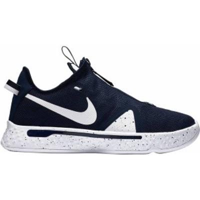 ナイキ レディース スニーカー シューズ Nike PG4 Basketball Shoes Navy/White/White