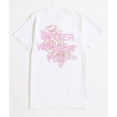 バイサミーライアン BY SAMII RYAN レディース Tシャツ トップス better without you white t-shirt White