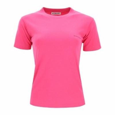 BALENCIAGA/バレンシアガ Tシャツ PINK Balenciaga copyright logo t-shirt レディース 秋冬2020 570796 TBV43 ik
