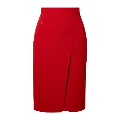 アクリス AKRIS ひざ丈スカート レッド 6 ウール 100% ひざ丈スカート