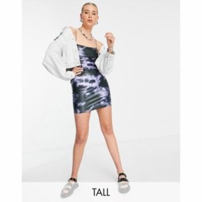 トップショップ Topshop Tall レディース ボディコンドレス タイト ミニ丈 ワンピース・ドレス tie dye bodycon mini dress マルチカラー