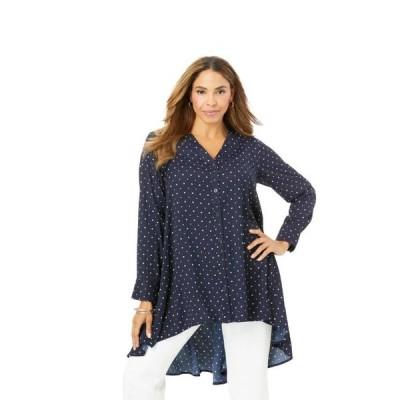 レディース 衣類 トップス Jessica London Women's Plus Size Hi-Low Georgette Tunic ブラウス&シャツ
