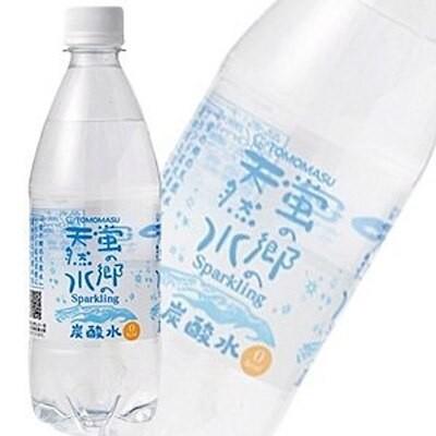 炭酸水 国産 友桝飲料 蛍の郷の天然水 スパークリング PET500ml24本 2ケース:合計48本