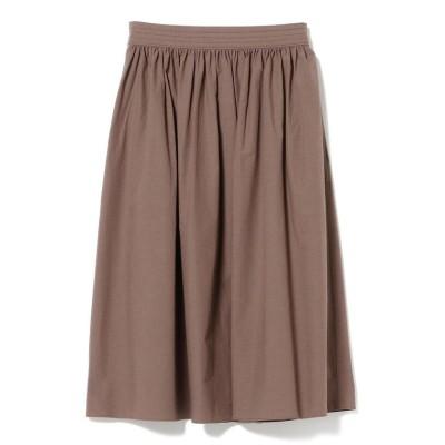【ビームス アウトレット】 Demi-Luxe BEAMS / コットンリネン ギャザースカート レディース MOCHA 36 BEAMS OUTLET