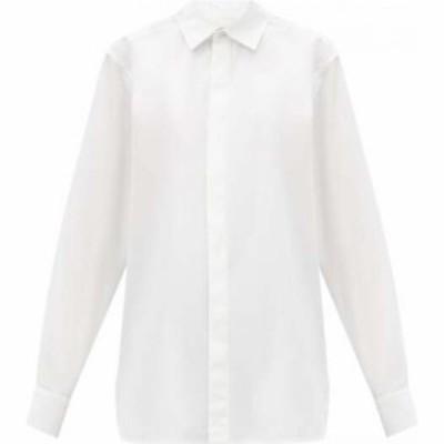 ボッテガ ヴェネタ Bottega Veneta レディース ブラウス・シャツ トップス Oversized cotton-poplin shirt White