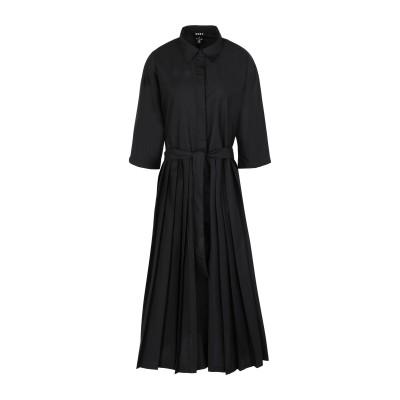 DKNY 7分丈ワンピース・ドレス ブラック S ポリエステル 66% / コットン 34% 7分丈ワンピース・ドレス