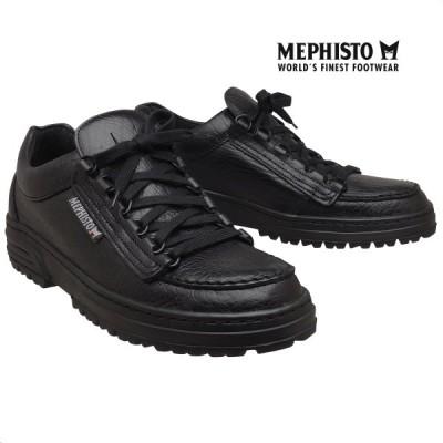 メフィスト 正規品 靴 MEPHISTO CRUISER BLACK スニーカー レースアップ ウォーキングシューズ メンズ 革靴 紳士靴