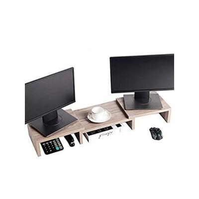 SUPERJARE モニタースタンドライザー 調節可能なスクリーンスタンド ノートパソコン/テレビ/PC用 多機能デスクトップオーガナイザー クリーム好評販売中