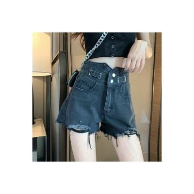 【送料無料】不規則な 穴のカウボーイ ショートパンツ 女 秋 韓国風 デザイン 感   364331_A63721-8338638