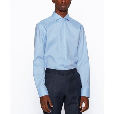 ヒューゴボス シャツ トップス メンズ BOSS Men's Jason Slim-Fit Shirt Light/Pastel Blue