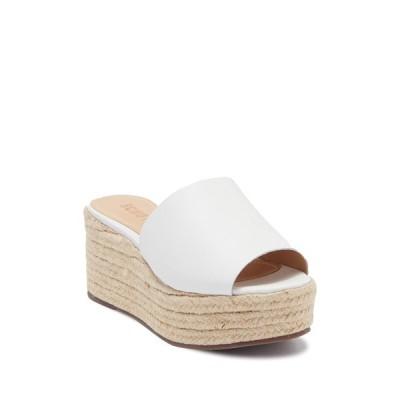 シュッツ レディース サンダル シューズ Thalia Platform Wedge Slide Sandal WHITE