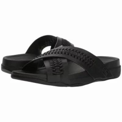 フィットフロップ サンダル Surfer Slide Black
