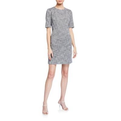 トリーナターク レディース ワンピース トップス Paradiso Crosshatch Short-Sleeve Sheath Dress