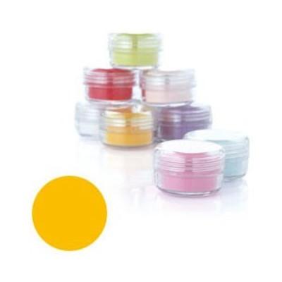 Fleurir カラーパウダー YW-M イエロー 4g【3Dアート・アクリリックスカルプチュア関連ネイル用品】