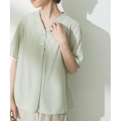 URBAN RESEARCH / ショルダータックフロント釦ブラウス WOMEN トップス > Tシャツ/カットソー