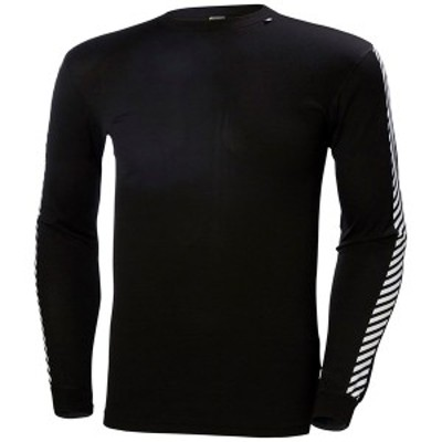 ヘリーハンセン メンズ Tシャツ トップス Helly Hansen Lifa Stripe Crew Black
