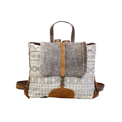 Myra Bag Virtuoso Upcycled Canvas & Cowhide Leather Backpack S-1277 並行輸入品