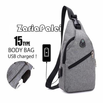 ボディバッグ メンズ?レディース かばん USBポート搭載 ケーブル付 ミニバッグ ショルダーバッグ big_ac