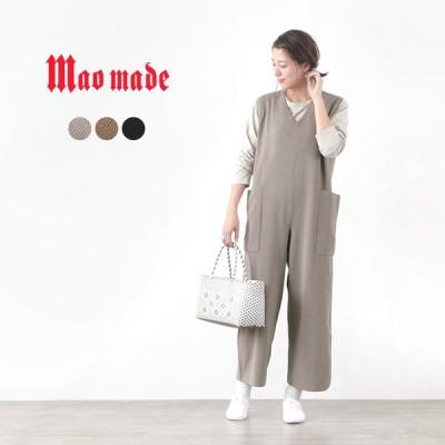 MAO MADE(マオメイド) ストレッチヤーン サロペット / レディース / 無地 / ニット / ワイドシルエット