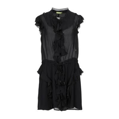 VERSACE JEANS ミニワンピース&ドレス ブラック 40 ポリエステル 100% ミニワンピース&ドレス