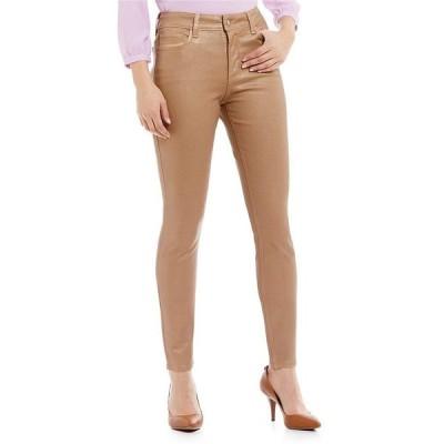 ジーンズ エヌ ワイ ディー ジェー NYDJ Ami Rose-Gold Coated Skinny Legging M77Z1074 Size 8 BRAND NEW!