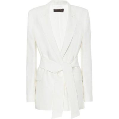 ロロピアーナ Loro Piana レディース スーツ・ジャケット アウター Clare belted linen blazer White