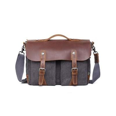 TSD Brand Hudson Canvas Messenger Bag (Grey)【並行輸入品】