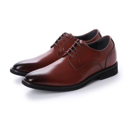 新発売 6cmアップ AN4502 ANTIBA SEGRETO 日本製 本革撥水ヒールアップ シークレットシューズ インヒール ビジネスシューズ紐プレーントゥ 紳士靴 ブラウン