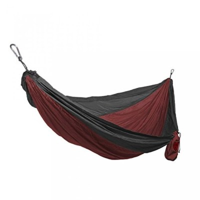 テント Grand Trunk Double Parachute Nylon Print Hammock with Carabiners and Hanging Kit